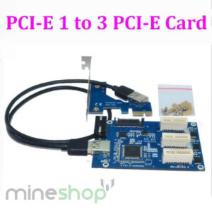 PCIe adapter  1 to 3 slots