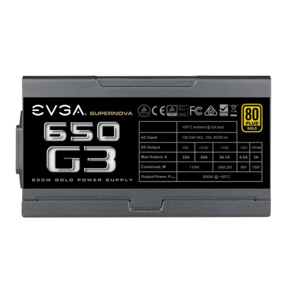 EVGA 650W SuperNOVA G3 Gold Power Supply