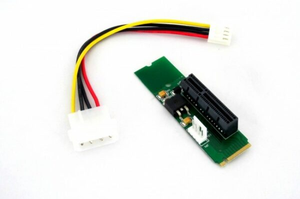 M.2 M Male Network Adapter Key Power Cable with Converter Card